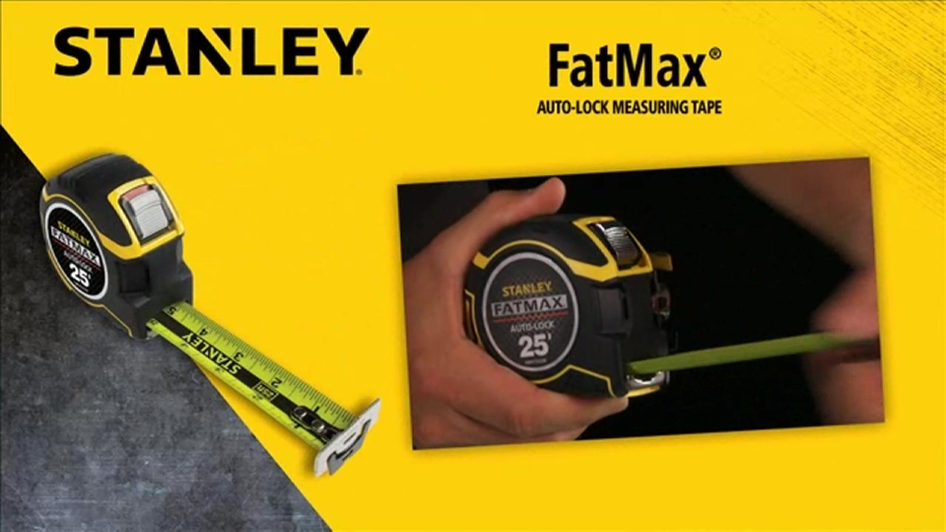 STANLEY® FATMAX® Auto-Lock Measuring Tape | STANLEY® Tools